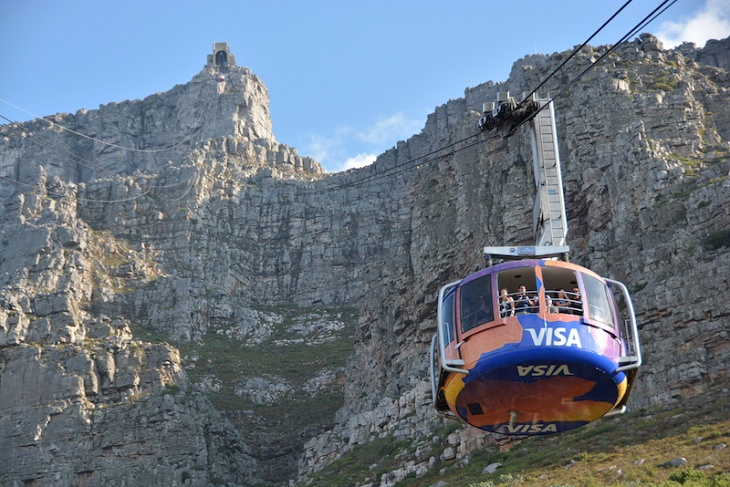 山頂へのケーブルカーは人気の観光スポット