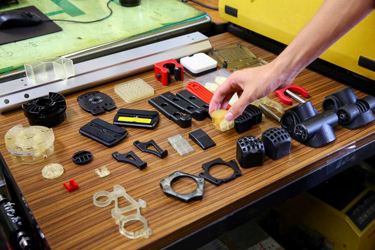 3Dプリンターで作られたサンプル製品