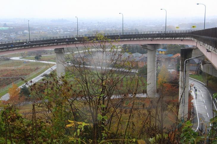 ダイナミックなループ橋、夜景スポットだそう
