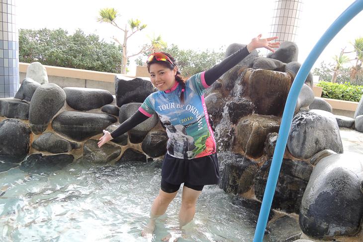タラソスパを体感できる足湯サービスが参加者に開放されたました!