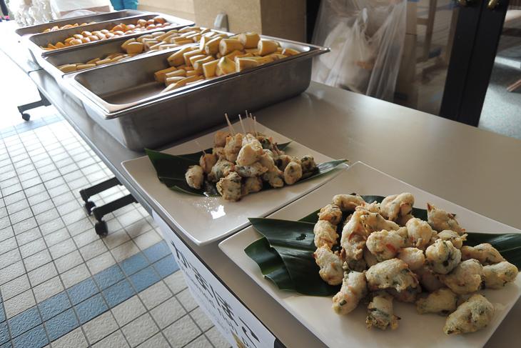 沖縄のお魚をつかったかまぼこと着かれた体に嬉しいフルーツ