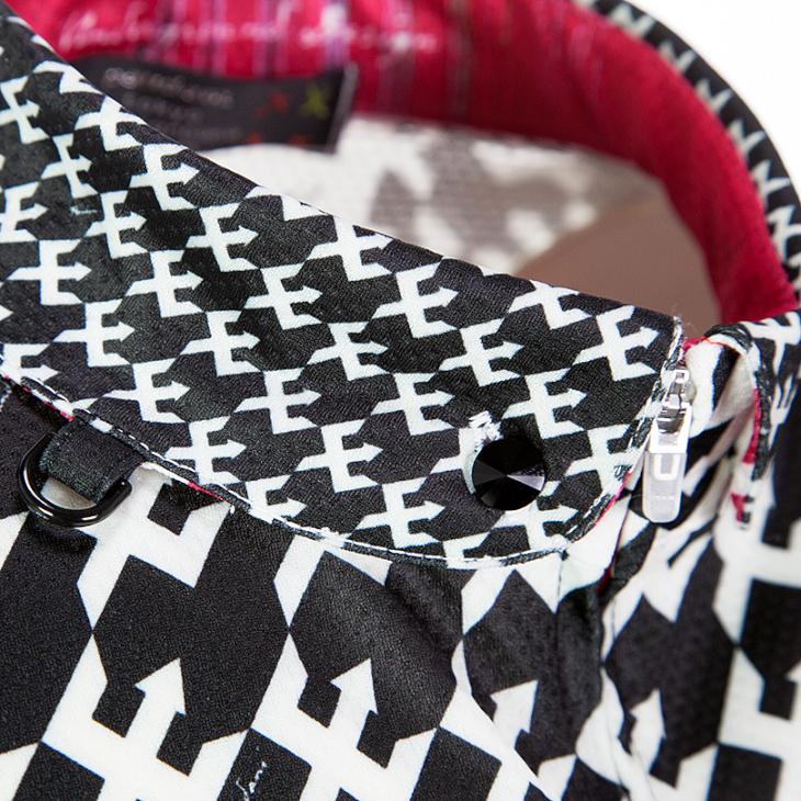 レディース半袖ジャージの襟は丸襟仕様だ