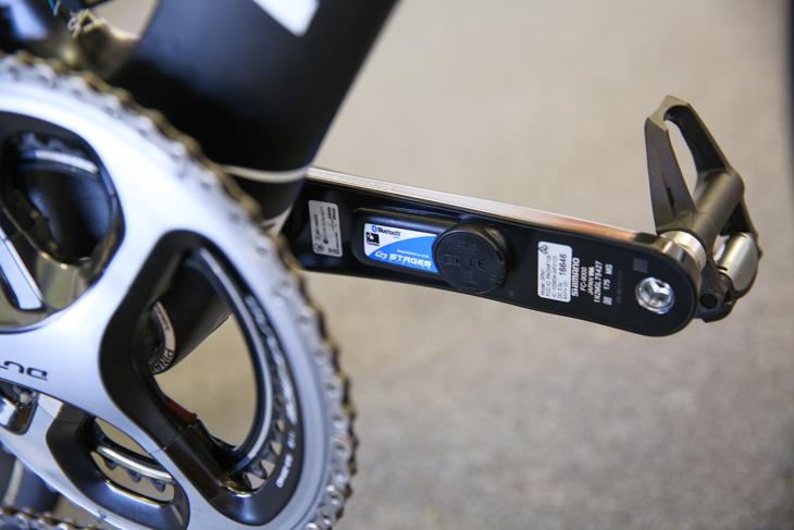 STAGESのパワーメーターを使う関係でクランクのみデュラエース9000