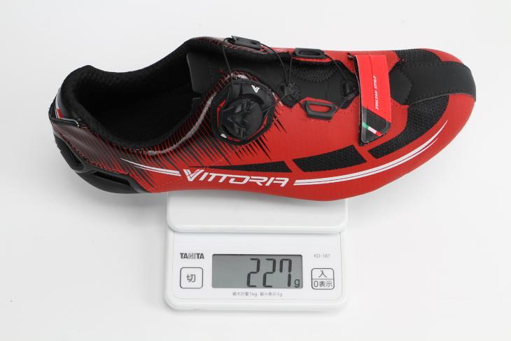 41サイズで227gという重量の通常モデル