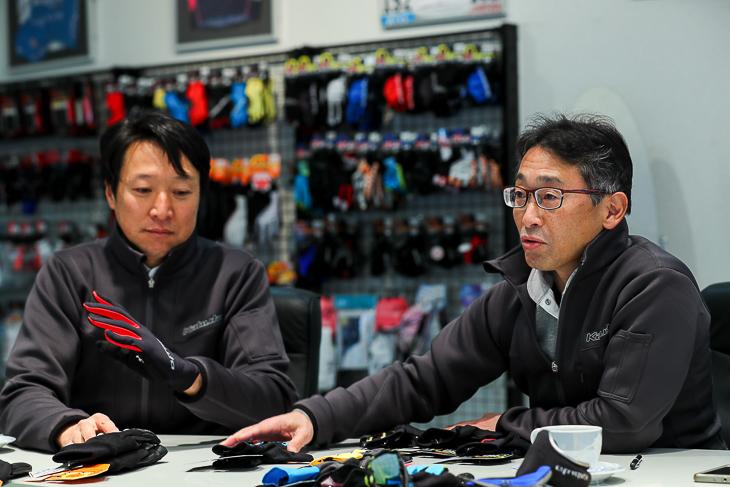SFG-1の開発を担当した柳原啓秀さん(右) 根っからのサイクリストである