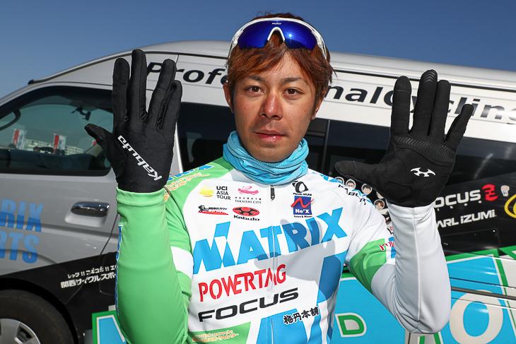 SFG-1を愛用するマトリックス・パワータグの吉田隼人選手