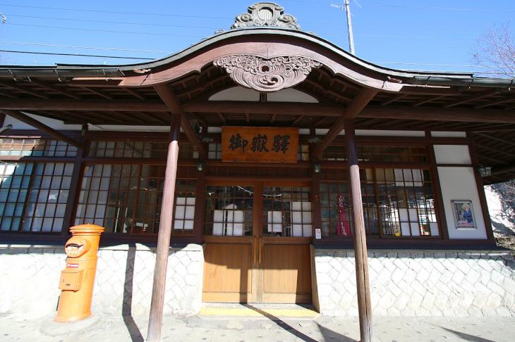 登山者に有名なJR御嶽駅です。