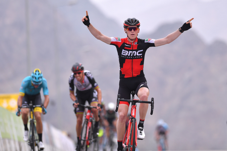 山頂フィニッシュを制したベン・ヘルマンス(ベルギー、BMCレーシング)