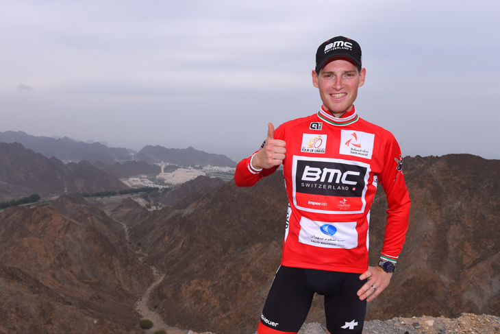 リーダージャージを獲得したベン・ヘルマンス(ベルギー、BMCレーシング)