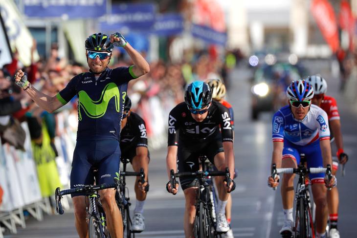 第1ステージを制したアレハンドロ・バルベルデ(スペイン、モビスター)