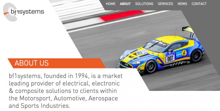 ハイパフォーマンスカーや航空宇宙産業に関わるbf1systems社がそファクターのルーツだ