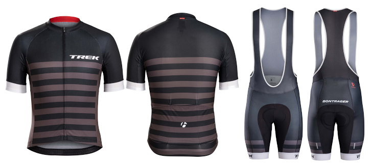 ボントレガー Specter Jersey、Bib Short(Trek Black Stripes)