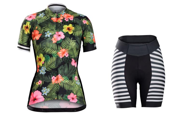 ボントレガー Anara Womens Jersey、Short(Floral Stripe)