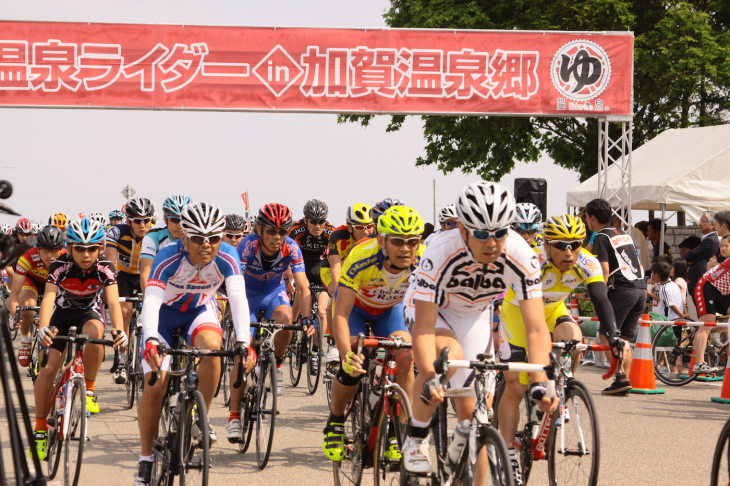 エンデューロ、ヒルクライム、タイムトライアルが開催される温泉ライダーin加賀温泉郷