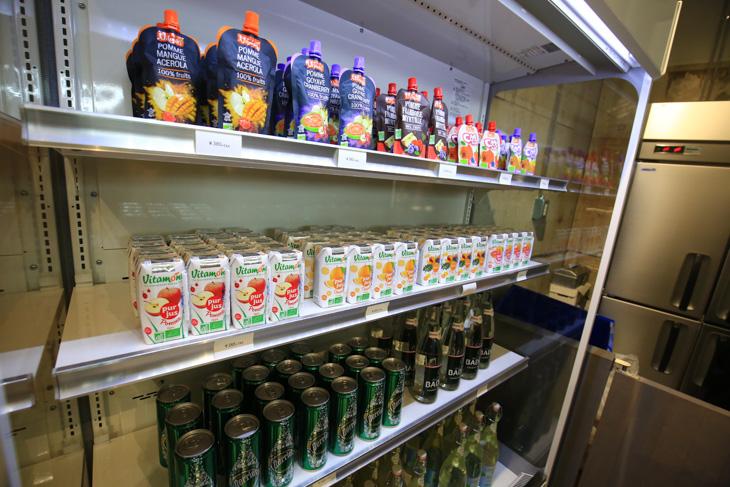 Bioと呼ばれるオーガニックドリンクや食品が販売される