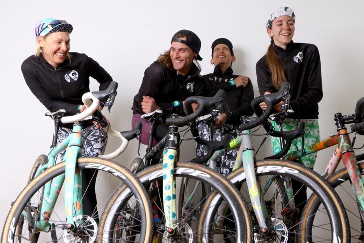 シクロクロス東京に参加した、Squid Bikesのメンバーたち