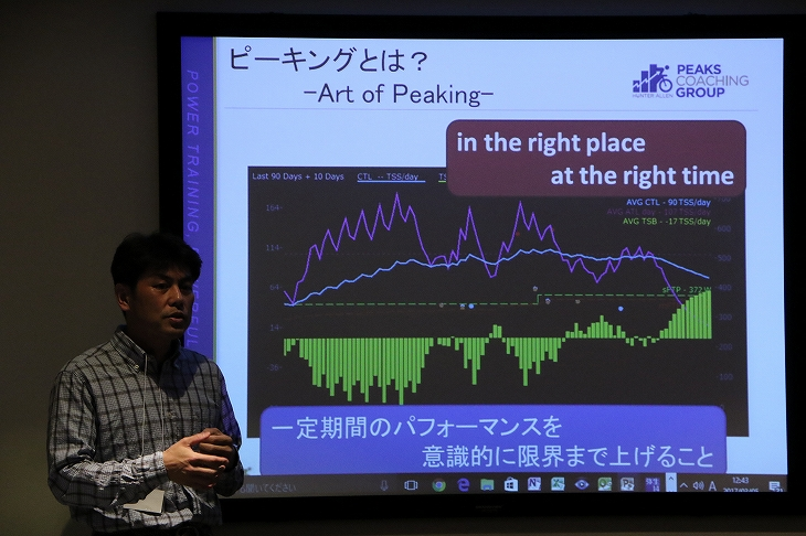 パワートレーニングの講座を開いた中田さん