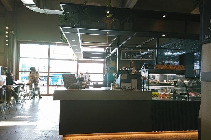 ほっと一息できるヤードカフェ