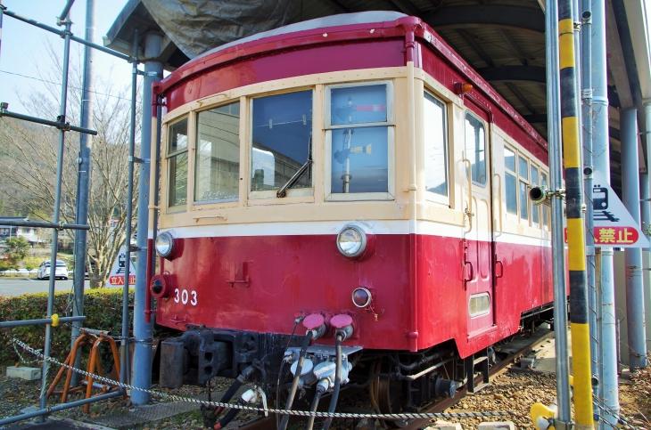月に一度運転される片上鉄道の輸送用滑車。客車車両十一両が動態保存されている