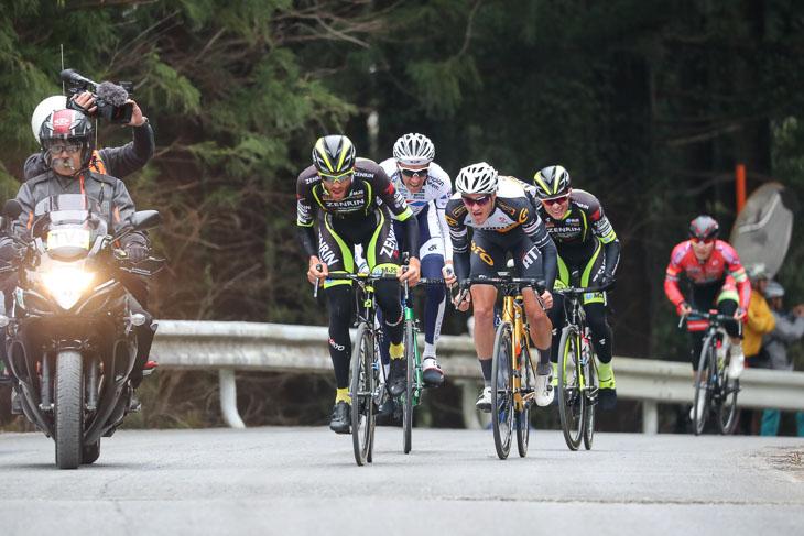 83km地点のKOMもサルバドール・グアルディオラ(チーム右京)が先頭