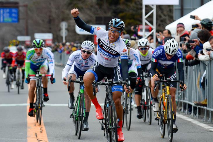 ツール・ド・とちぎ第2ステージで優勝したマラルエルデ・バトムンフ(トレンガヌサイクリングチーム)