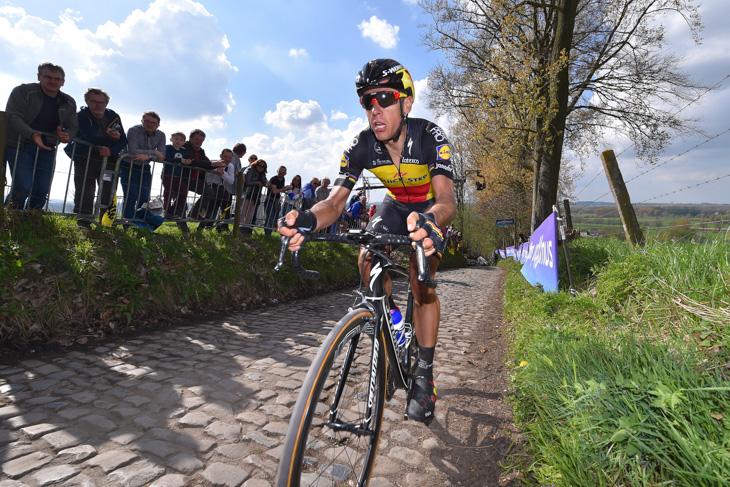 コッペンベルグを独走で駆け上がるフィリップ・ジルベール(ベルギー、クイックステップフロアーズ)