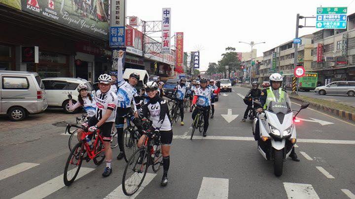 台湾一周サイクリングを敢行した「四国一周サイクリングPR隊」。6日間で走り、台湾各地でPR活動を行った