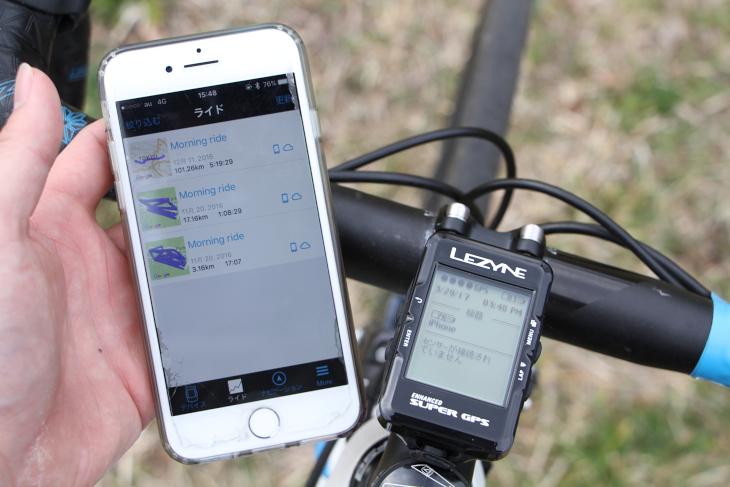 スマートフォンと連携させることでナビゲーションシステムやログ管理などが行いやすくなる