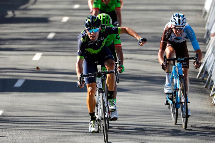 バルデとウランをスプリントで下したアレハンドロ・バルベルデ(スペイン、モビスター)
