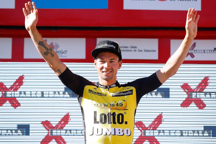 ステージ2勝目を飾ったプリモシュ・ログリッチェ(スロベニア、ロットNLユンボ)