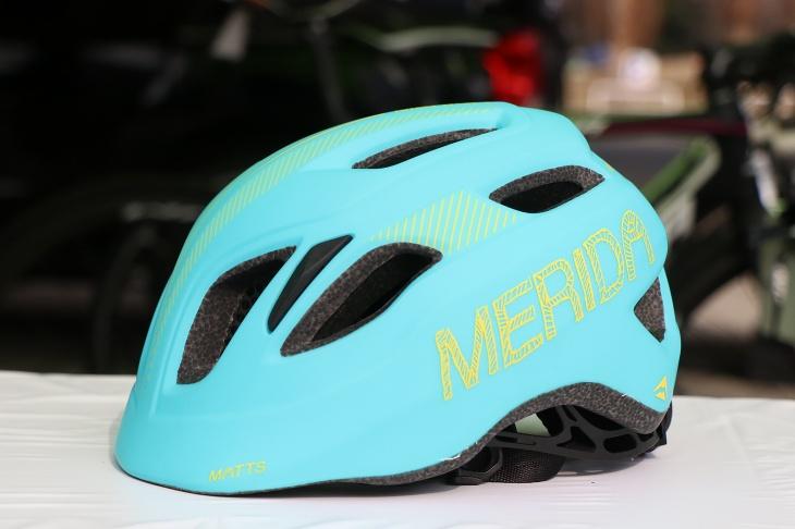 メリダ キッズ用ヘルメット(マットライトブルー/イエロー)