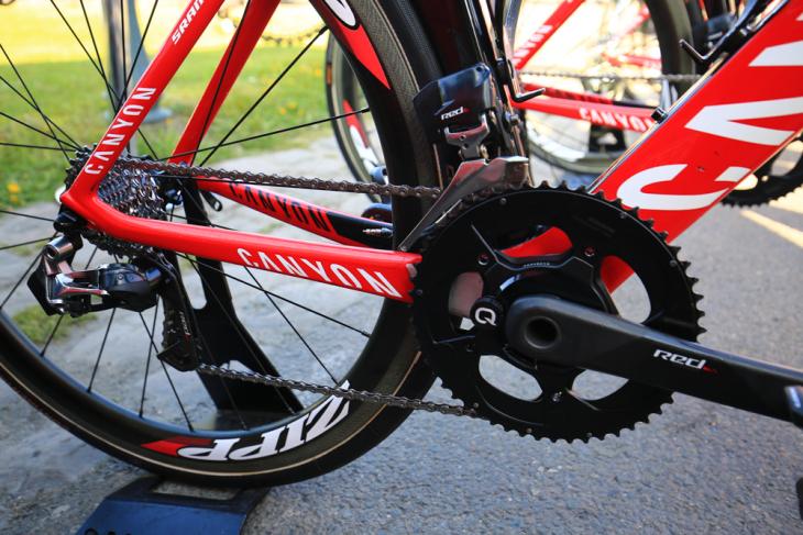 UCIワールドチーム中唯一のスラム使用チームとしてRED eTapをフル装備