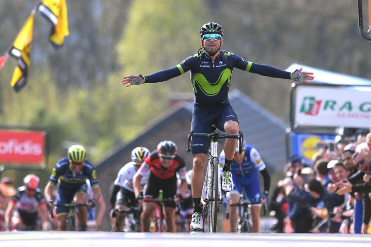 自身5度目の勝利を果たしたアレハンドロ・バルベルデ(スペイン、モビスター)