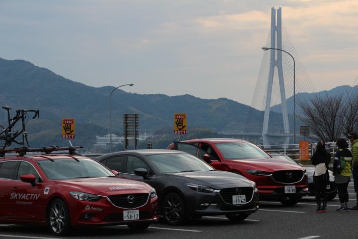 しまなみ海道には広島産のマツダ車がよく似合う