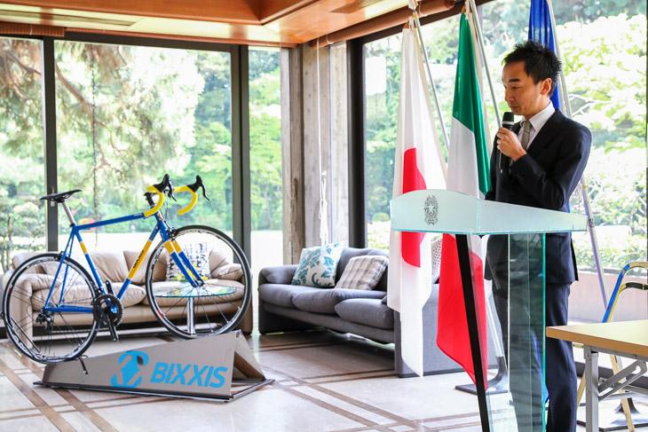 イタリア語通訳士でもある静観篤氏のBIXXISジャパンは大会を後援する