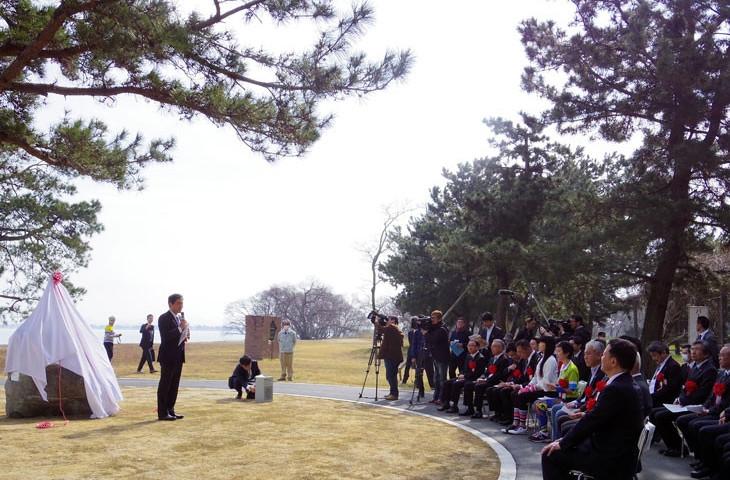 自転車愛好家宮本市長の熱のこもったスピーチ