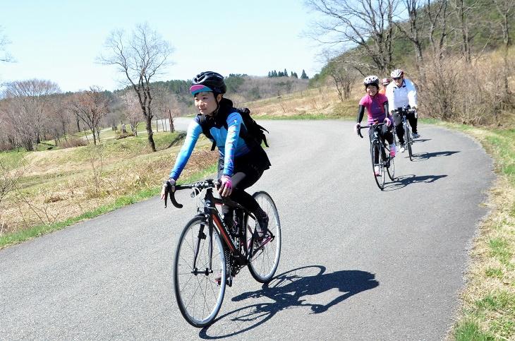 標高約800m八幡高原は自然豊かで、女性サイクリストにも人気のエリア