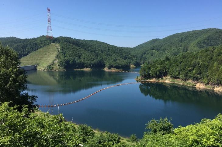 ゴールは標高約1,500mにある乙女湖だ
