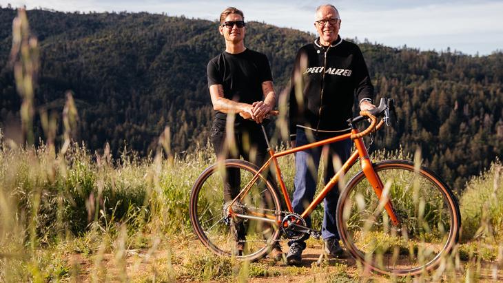 フレームビルダーのメルツ氏とデザイナーのノーラン氏