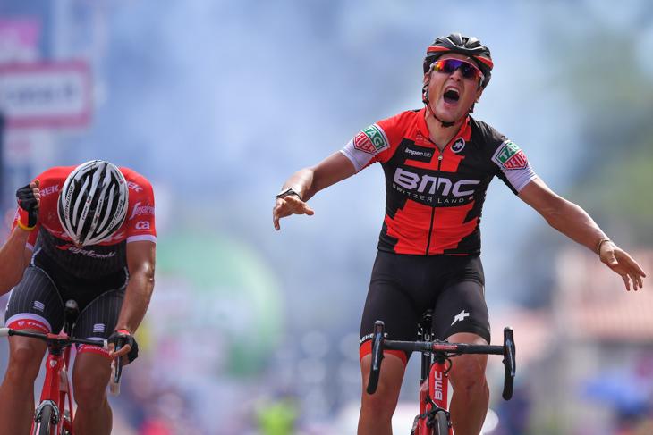 ジロ・デ・イタリア2017第6ステージを制したシルヴァン・ディリエ(スイス、BMCレーシング)