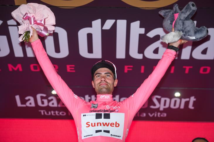 安全に第12ステージを走りきったトム・デュムラン(オランダ、サンウェブ)
