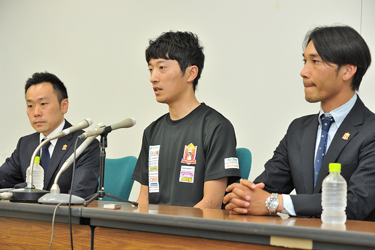 バセドウ病の治療中であることを会見にて発表した増田成幸(宇都宮ブリッツェン)