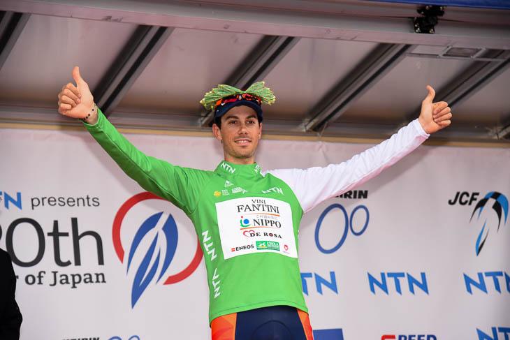 ステージ3勝目を飾ったマルコ・カノラ(NIPPOヴィーニファンティーニ)