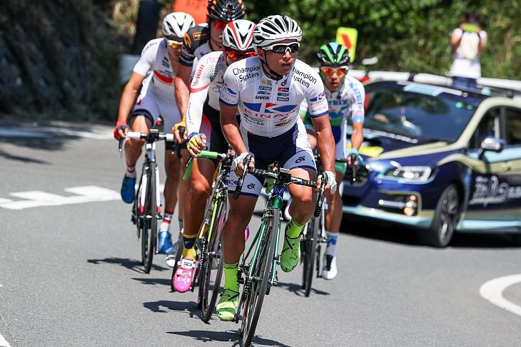 国内レースでも積極的な走りを見せる山本元喜選手(キナンサイクリングチーム)