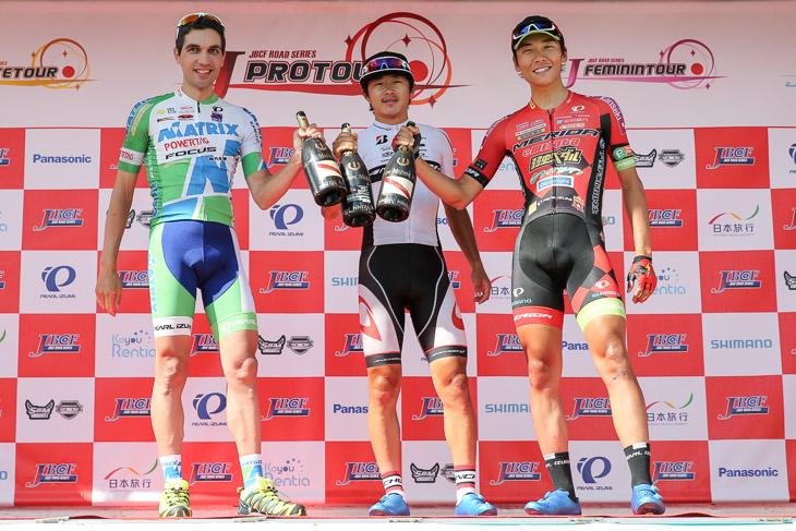 鈴木龍(ブリヂストンアンカーサイクリングチーム)が強者だけ残ったレースを制する