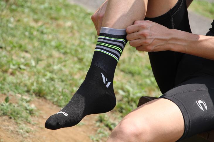 欧米ではスタンダートとなった足首丈の長いソックス