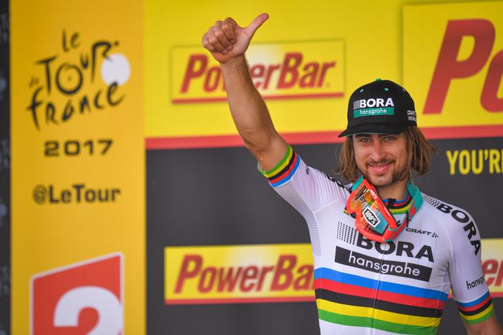 ステージ1勝目を飾ったペテル・サガン(スロバキア、ボーラ・ハンスグローエ)