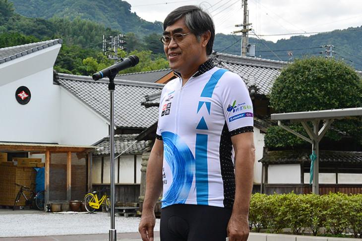 上甲俊史・愛媛県副知事より最終日コースの魅力を紹介