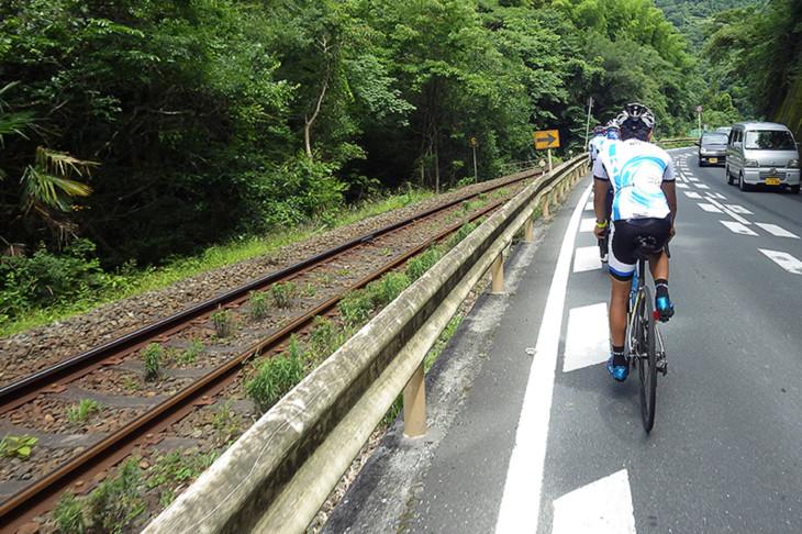 四国一周コースの多くは鉄道並走が多いのが助かる。