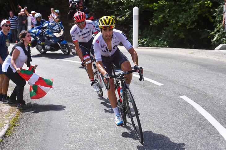 第13ステージで活躍を見せたミケル・ランダ(スペイン、チームスカイ)とアルベルト・コンタドール(スペイン、トレック・セガフレード)